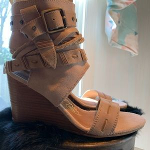 naughty monkey Shoes - Naughty Monkey Strapy wedges! Suede & leather Fun!